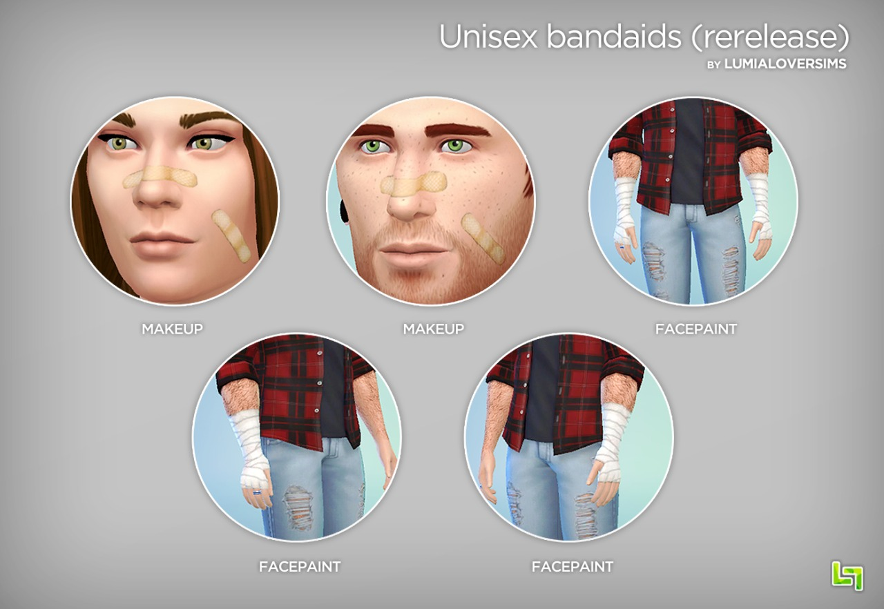 Updated Band Aids by LumiaLover Sims