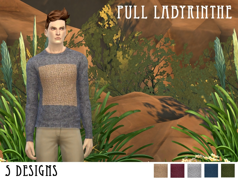 Labyrinth Sweaters for Males by Fuyaya