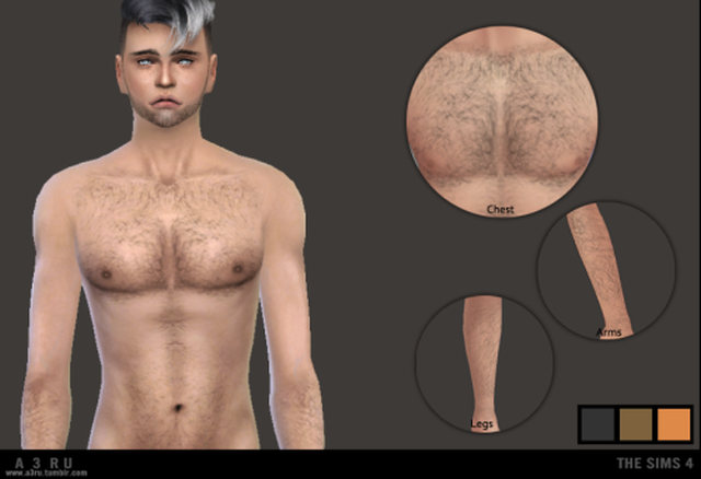 Realistic Looking Body Hair by a3ru