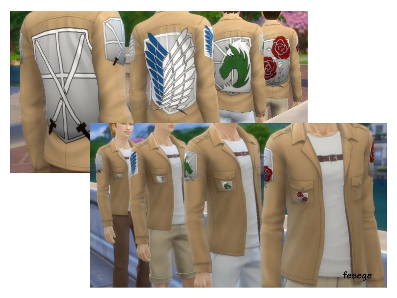 [Attack On Titan/Shingeki No Kyojin] All Corps Jacket Set BY fesege