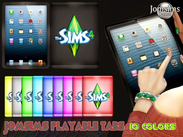 Playable Sims 4 Tablets by JomSims