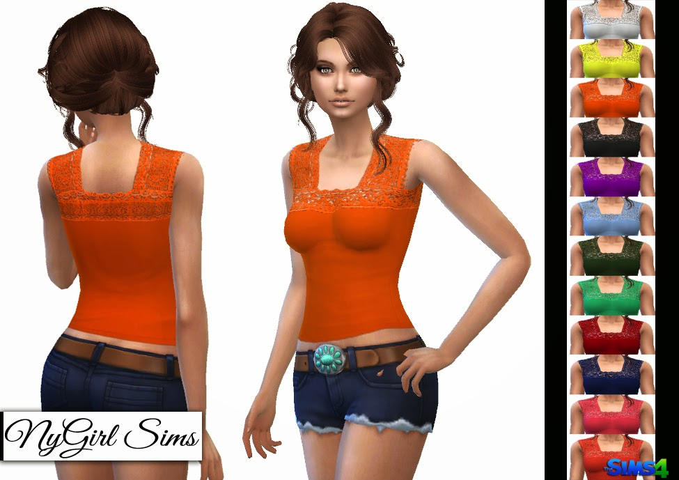 Lace Boho Tank for Adult Females by NyGirl