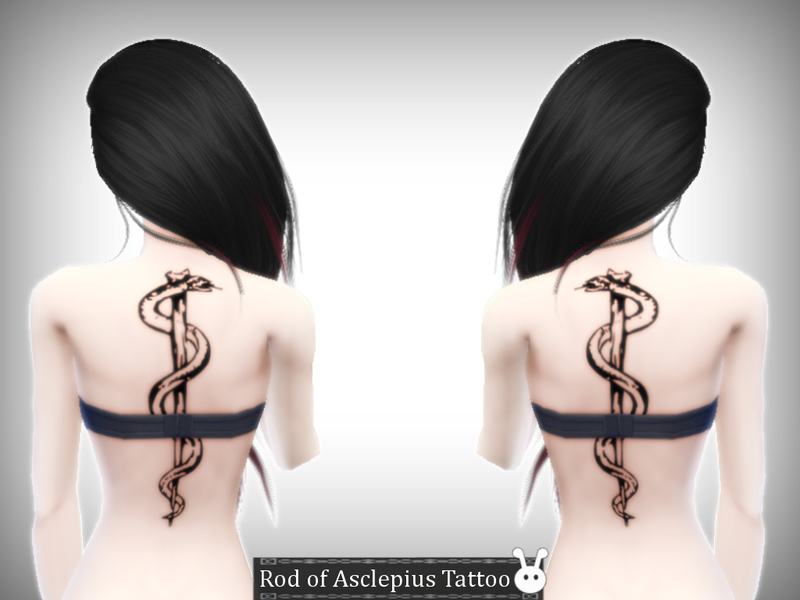 Rod of Asclepius Tattoo BY XxNikkibooxX