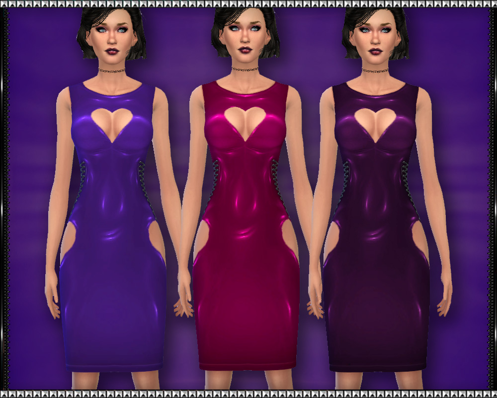 Valentine PVC Dress at SrslySims
