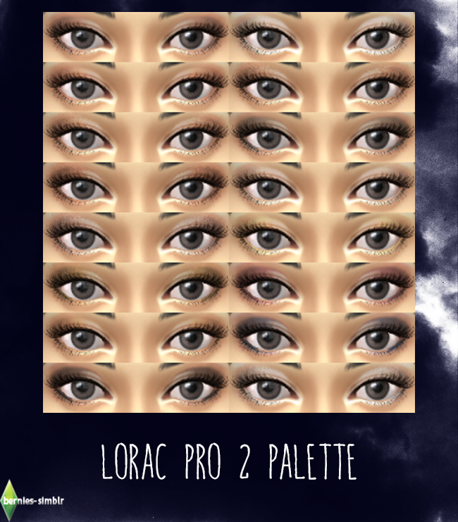 Pro 2 Eyeshadow at Bernies Sims 4 Simblr