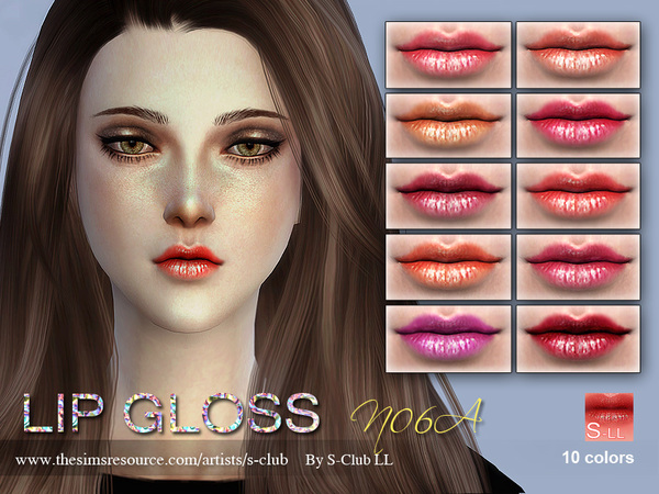 S-Club LL thesims4 Lipstick F06A