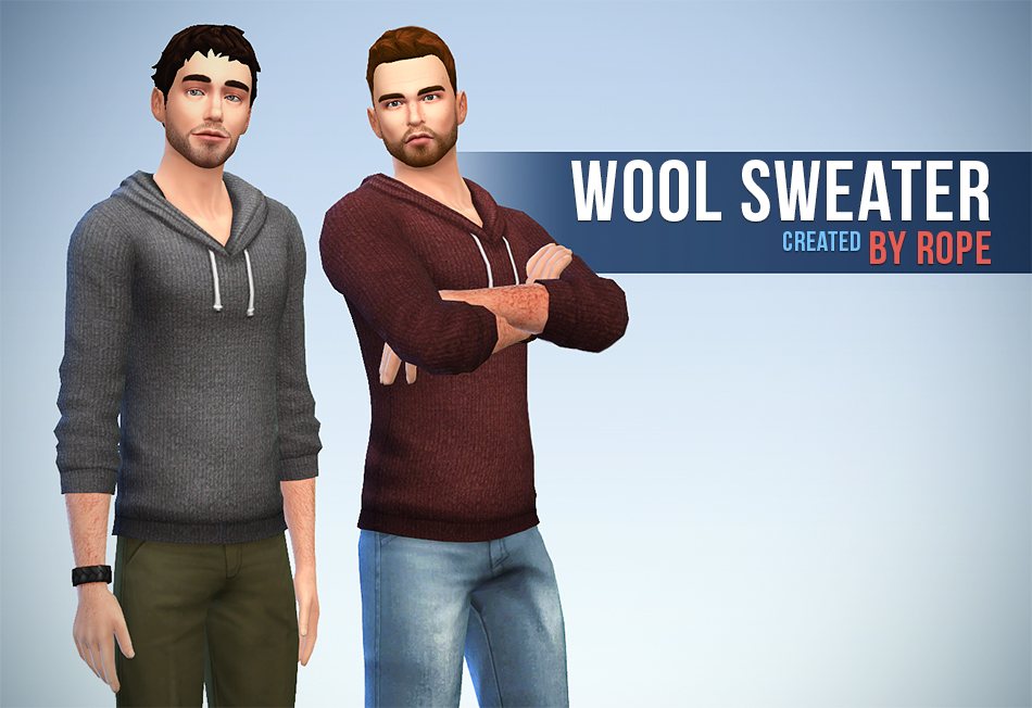 Wool Sweaters for Teen - Elder Males by Rope