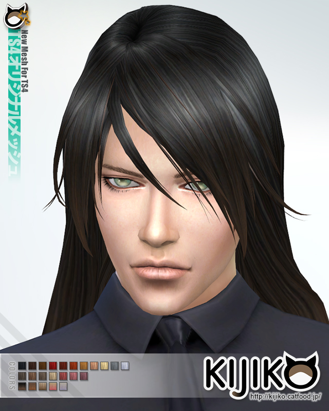 Long Straight hair for males at Kijiko