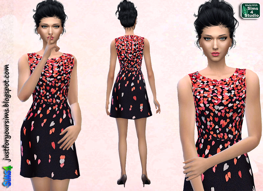 Little Hearts Dress at Just For Your Sims