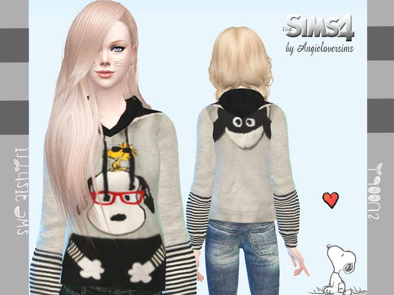 Snoopy Sweatshirt  BY Angie Lover Sims