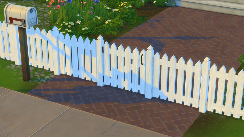 White Picket Fence and Gates by DasMatze2