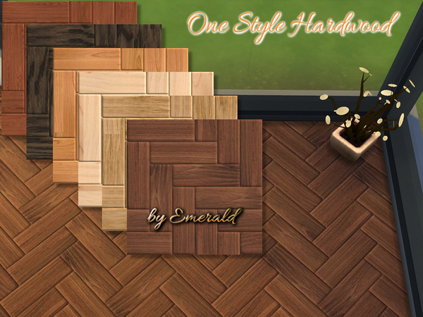 One Style Hardwood floor by emerald