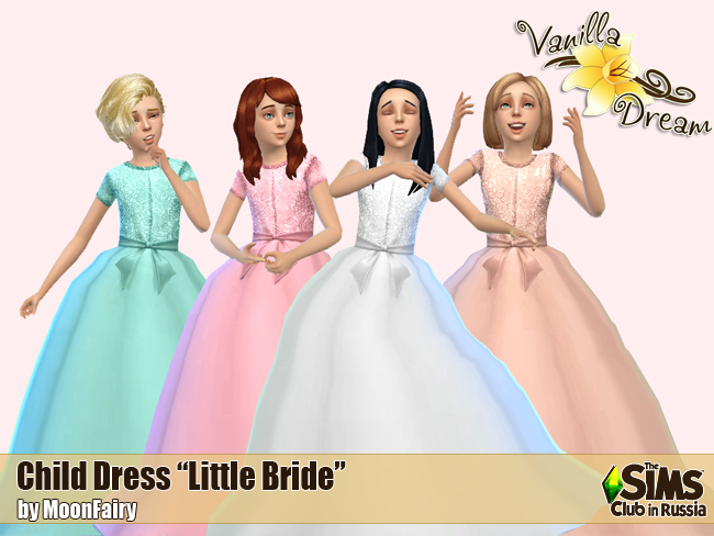 Little Bride Dress for Girls by MoonFairy