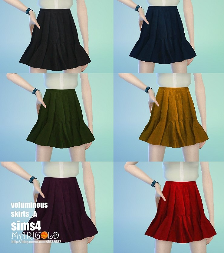 Voluminous skirts at Marigold