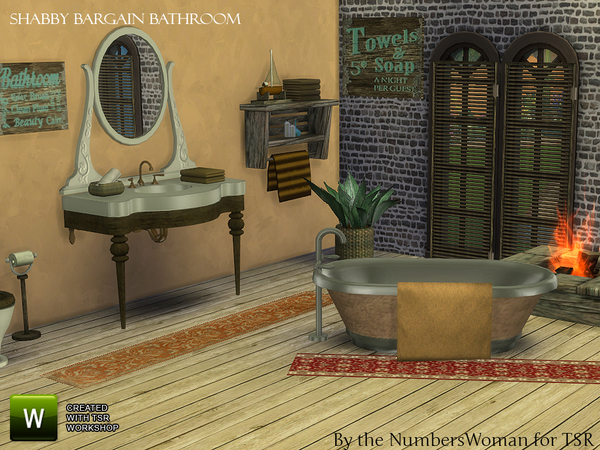 Shabby Bargain Shabby Chic Bathroom by TheNumbersWoman