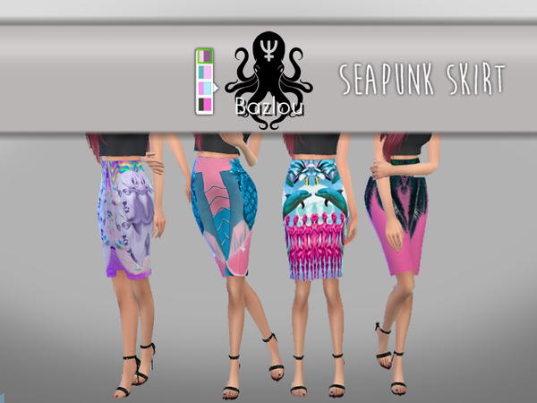 Seapunk Skirt by Bazlou