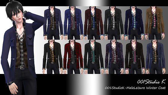 MaleLeisure-Winter-Coat by Studio K Creation