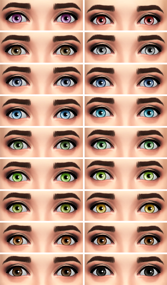 TS3 to TS4 - Sunshine Default Eyes by Lunarlolily