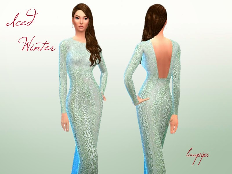 Iced Winter Dress by Laupipi