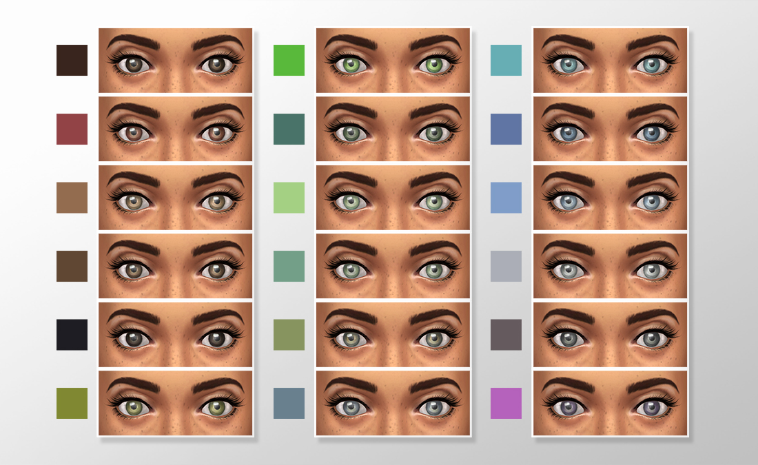 Natural Colors Eye set 2 by megary