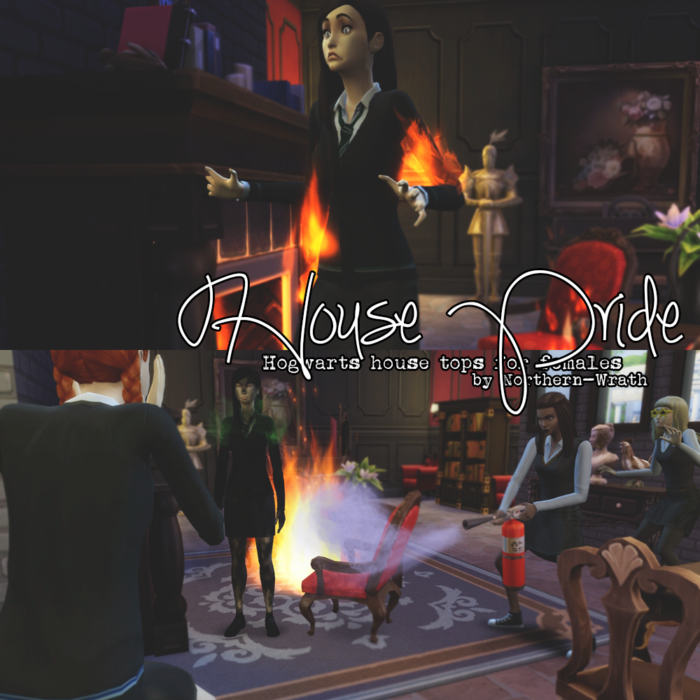 Hogwarts House Tops for Females by NorthernWrath
