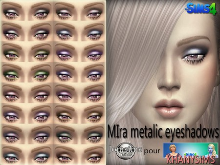 Mira metalic eyeshadows by Jomsims