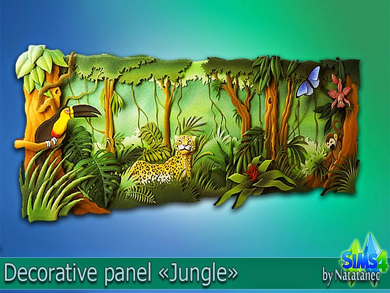 Decorative panel Jungle by natatanec