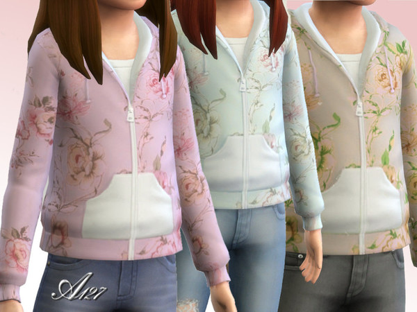 Flowers sweatshirt girl by altea127