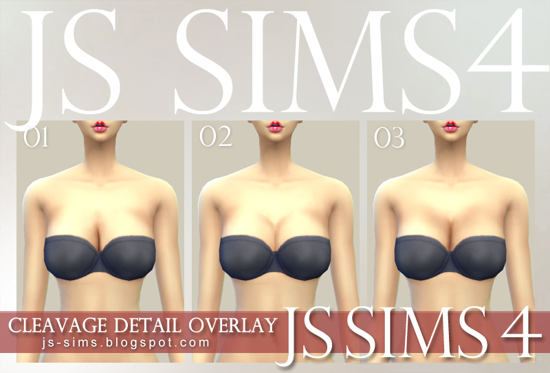 Cleavage Detail Overlay by JS Sims 4