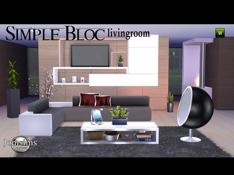 Simple Bloc Living by JomSims