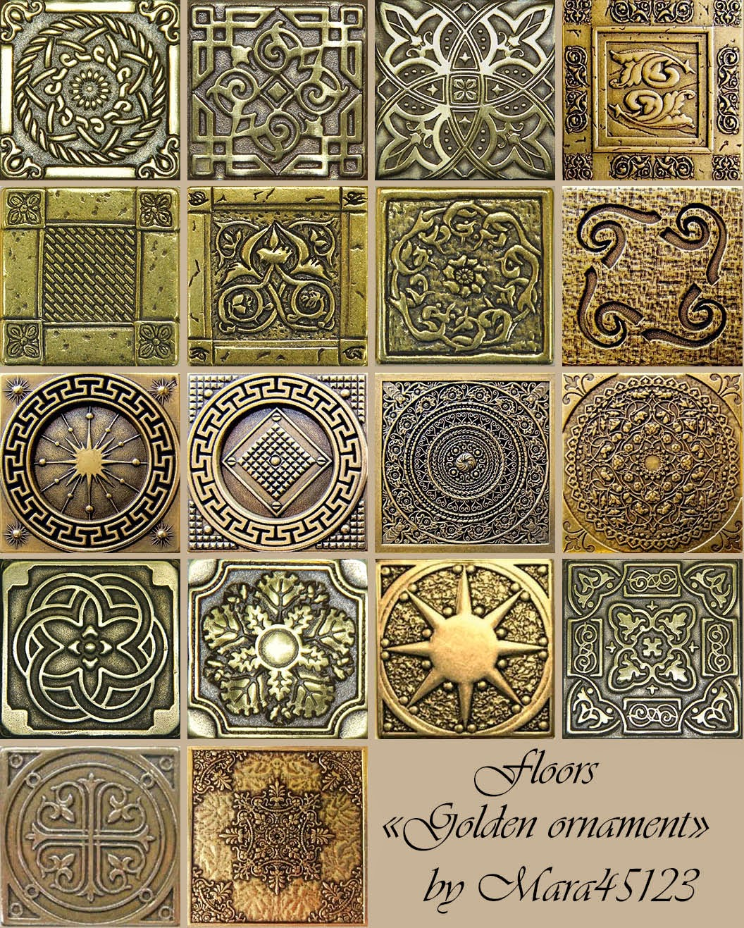 "Floors ""Golden ornament"" by Mara45123"