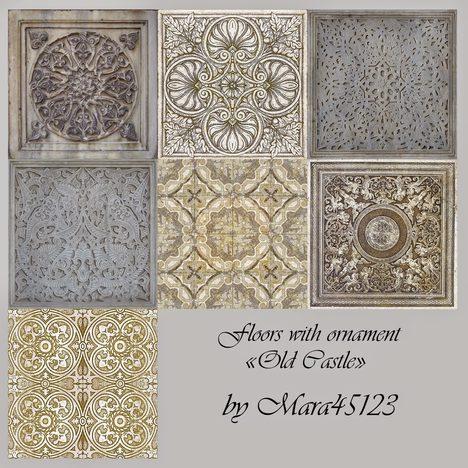 "Floors with ornament ""Old Castle"" by Mara45123"