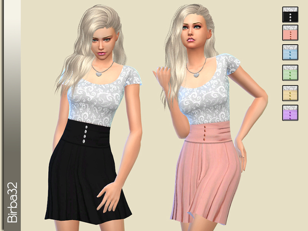 Lace Top and Skirt Dress by Birba32