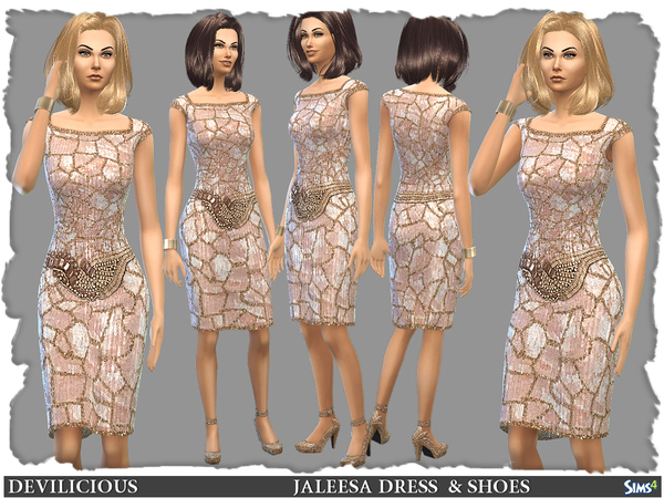 Jaleesa Dress and Shoes by Devilicious
