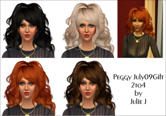 TS2 to TS4 Peggy July 09 Hair for Females by JulieJ