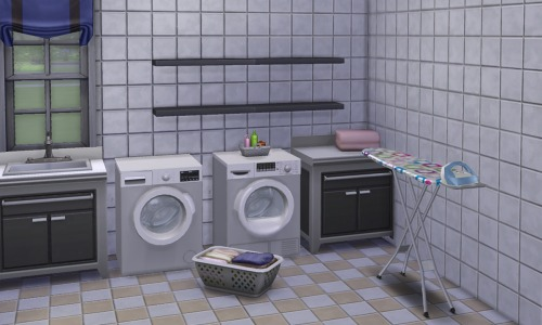 Simple Laundry Room by MySimsWorld