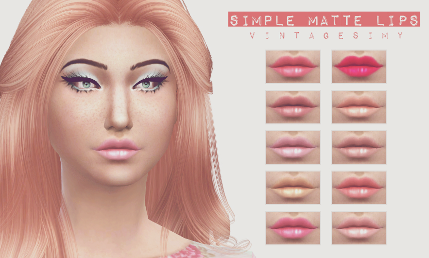 Simple Matte Lips by VintageSimy