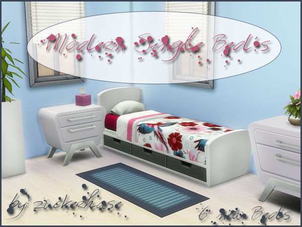 Modern Bed Recolors by Zuckerhase