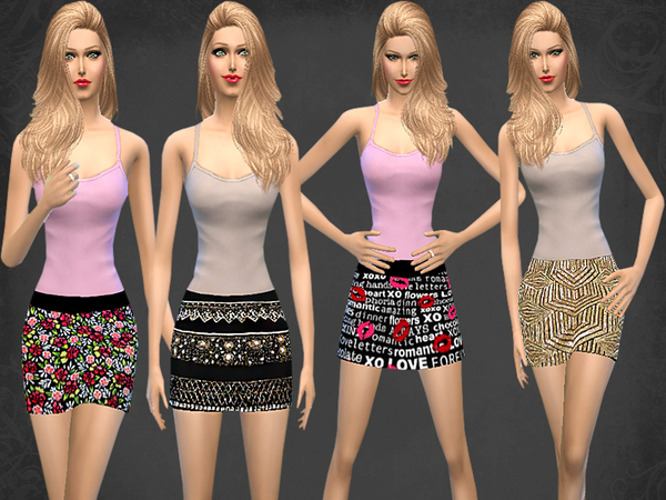 Mini Skirt Set by melisa inci