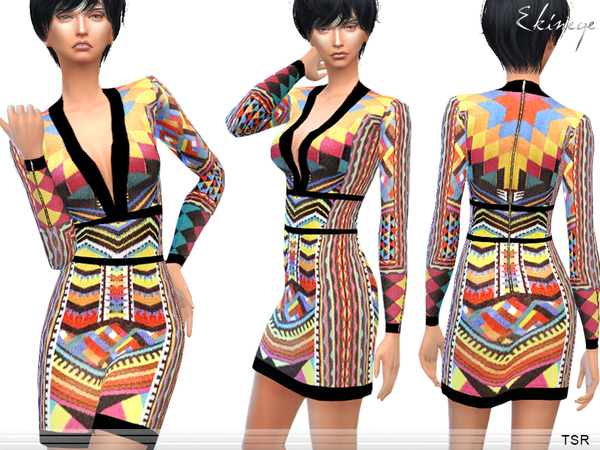 Tribal Patterned Dress by ekinege