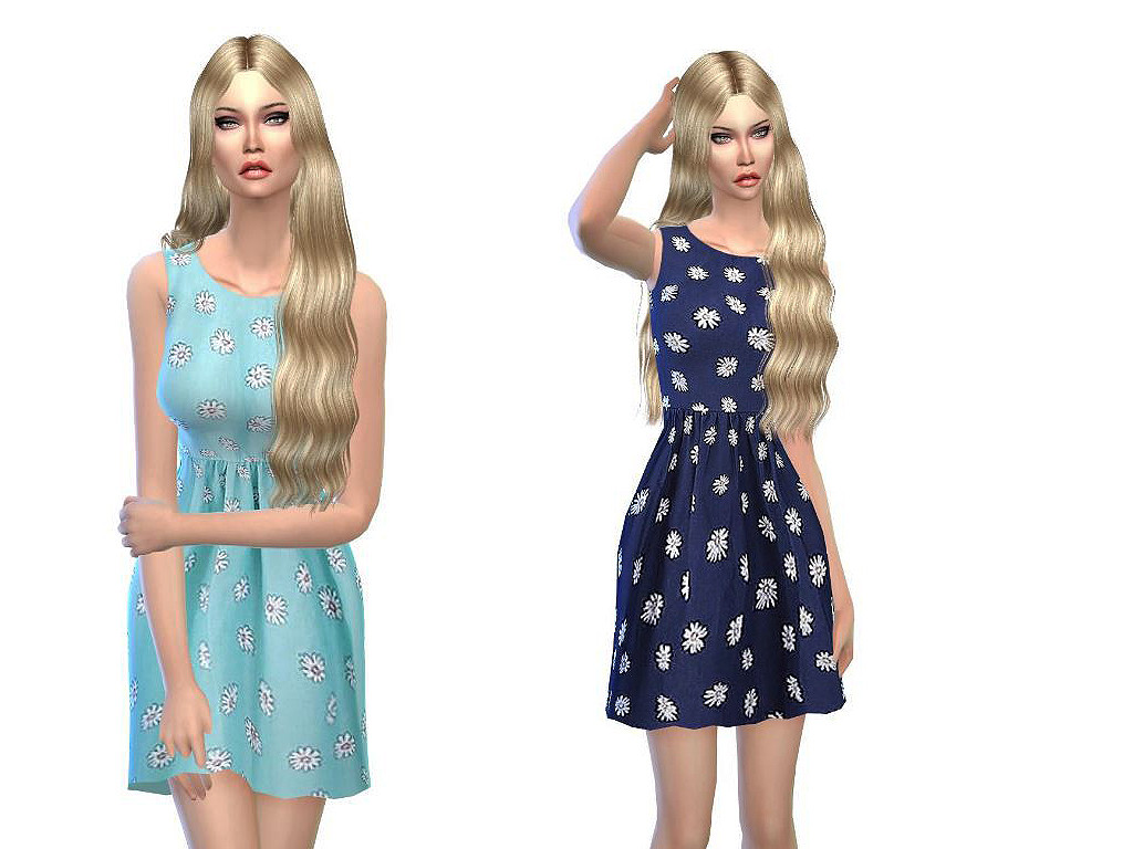 Sweet summer dresses in blue at Sims3oertchen