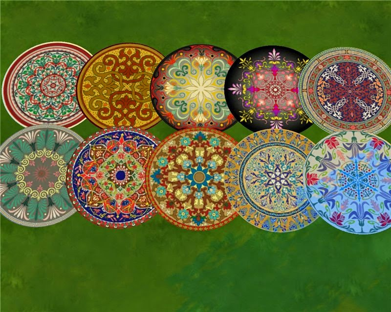 "Round rugs ""Color"" by Mara45123"