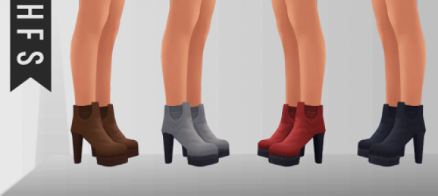 High Ankle Boots by HFS