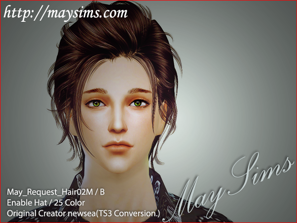 May Sims  Hairstyles : Hair 02 M/B conversion from TS3 Newsea