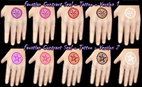 DecayClowns Sims  Tattoos : Faustian Contract Seal