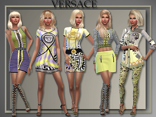 Versace Spring 2015 for Teen - Elder Females by Judie
