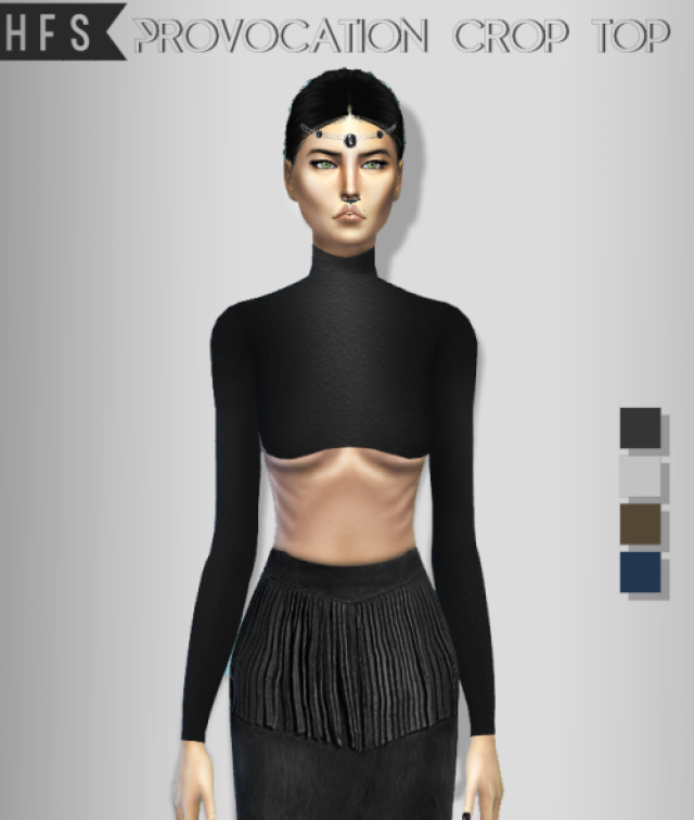 PROVOCATION CROP TOP by hautfashionsims4