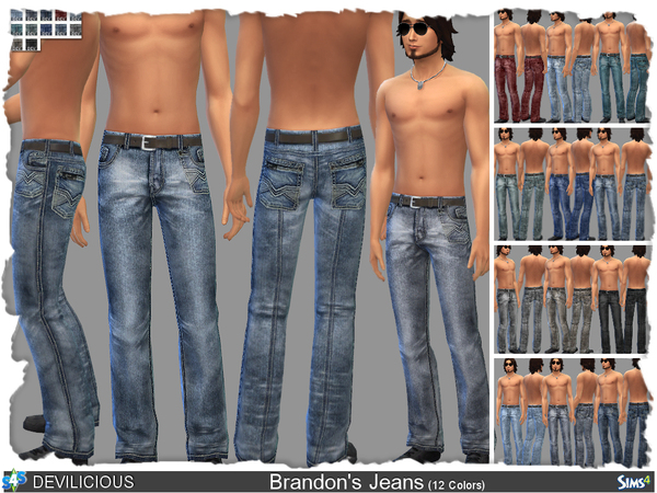 Brandon's Jeans (12 Colors) by Devilicious