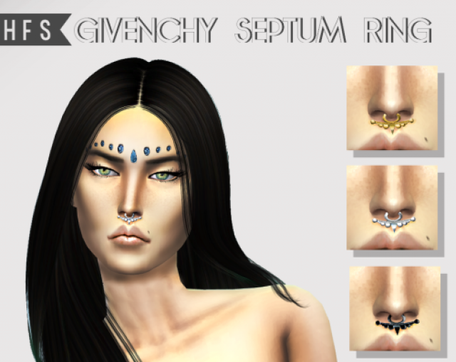 Givenchy Septum Ring by Hautfashionsims4