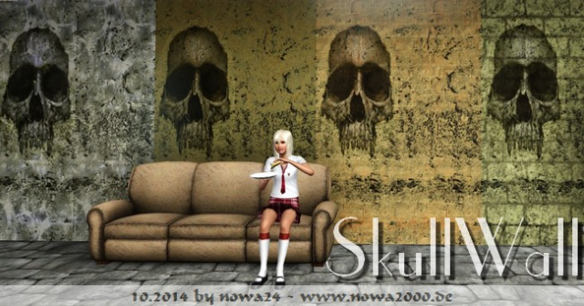 Skull Wall Set by Nowa2000